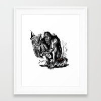 sasquatch Framed Art Prints featuring SaSQUATch by Is It Moist?