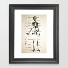 Skeleton In Love Framed Art Print