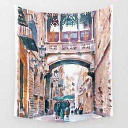 Carrer del Bisbe - Barcelona Wall Tapestry