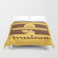 cigarettes Duvet Covers featuring Mexicano - Vintage Cigarette by Fernando Vieira