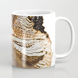 Lizard Face ‎Reptilia Shadow Side Mysterious Smile Enigma Coffee Mug