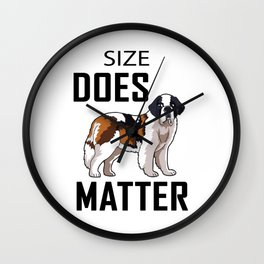 Size Does Matter Wall Clock