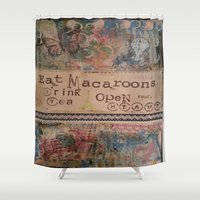 macaroons Shower Curtains featuring Macaroons by drskippyart