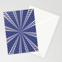 Navy Blue and Pink Bold Geo Kaleidoscope Stationery Cards