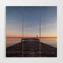 Sunset On The Dock Wood Wall Art