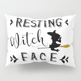 Resting Witch Face Pillow Sham