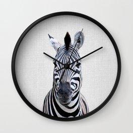 Zebra - Colorful Wall Clock