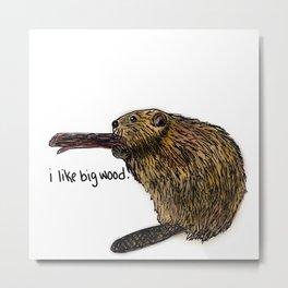 Bad Beaver Metal Print