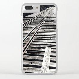 Forgotten Bridge Clear iPhone Case