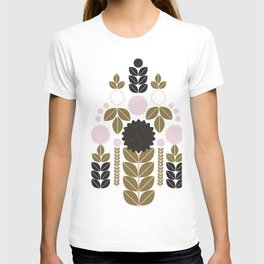 Geometric Abstract Floral design T-shirt