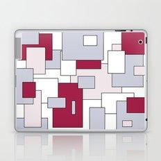 Squares - gray, purple, gray and white. Laptop & iPad Skin