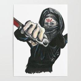 badass stealth ninja assassin carol Poster