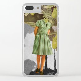 Green is not my colour Clear iPhone Case