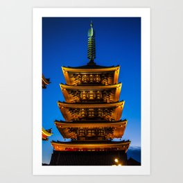 Asakusa Tower Art Print