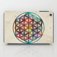 flower of life iPad Cases featuring Flower of Life by Klara Acel