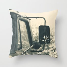 Abandoned Vintage Pick-Up Truck Throw Pillow