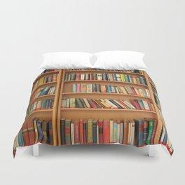 Bookshelf Books Library Bookworm Reading Duvet Cover