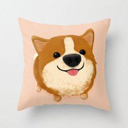 Corgi [boop the snoot!] Throw Pillow