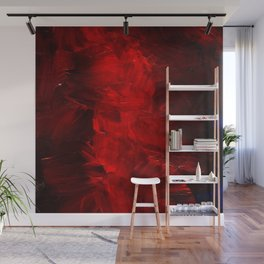 Red Abstract Paint Wall Mural
