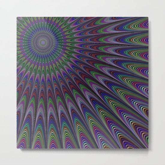 Psychedelic fractal sun Metal Print
