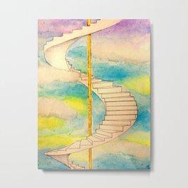 Fantasy Stairs Watercolor Metal Print