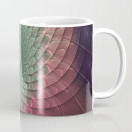 Abstract And Colorful Snail, Fractal Art Coffee Mug