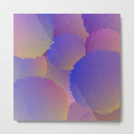 Purple Nuclear Fusion Metal Print