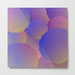 Purple Nuclear Fusion Metal Print