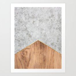 Concrete Arrow - Wood #345 Art Print