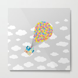 Up! in the Gray Clouds Metal Print
