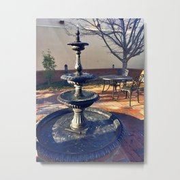 Fairytale Village Fountain Metal Print