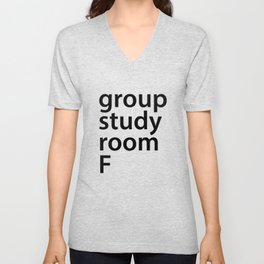 Group study room F Unisex V-Neck