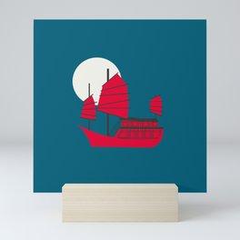 Moonlight Junk Mini Art Print