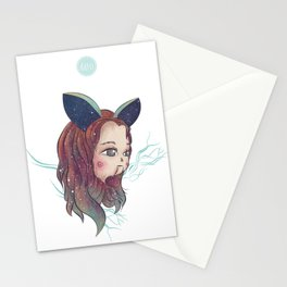 Rabbit Girl Stationery Cards