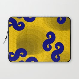 African wax print yellow and blue Laptop Sleeve