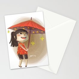 umbrella star Stationery Cards