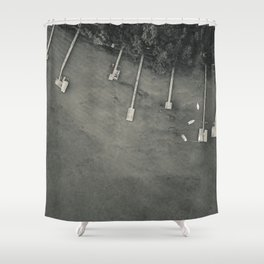 Dock From Above Shower Curtain