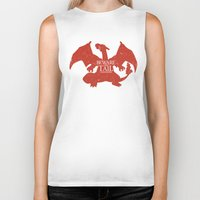 charizard Biker Tanks featuring House Charizard by Alecxps