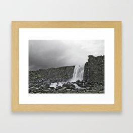 Öxarárfoss Framed Art Print