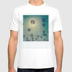 Lanterns MEDIUM White Mens Fitted Tee