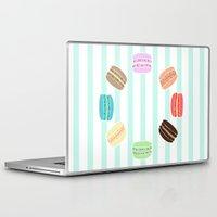 macarons Laptop & iPad Skins featuring Macarons by ASHEFACE DESIGNS