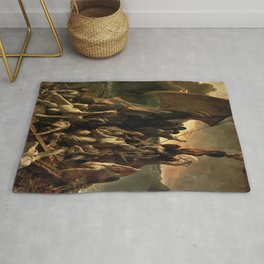 Jean Louis Theodore Gericault's The Raft of the Medusa Rug