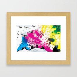 Dropping Science Framed Art Print