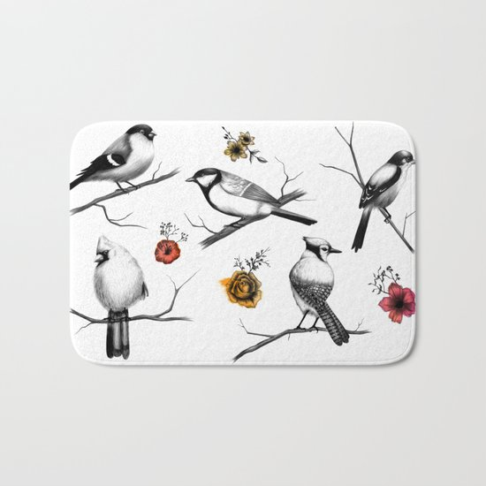 BIRDS & FLOWERS Bath Mat