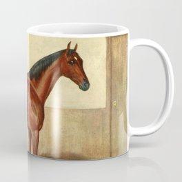 Vintage Stabled Horse Illustration (1905) Coffee Mug
