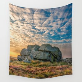 Sunset by Hitching Stone Wall Tapestry