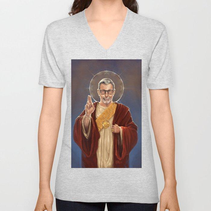 Saint Jeff of Goldblum Unisex V-Ausschnitt