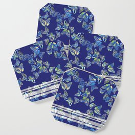 Butterfly Blue Coaster
