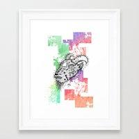 goat Framed Art Prints featuring Goat  by LSjoberg
