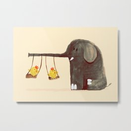 Elephant Swing Metal Print